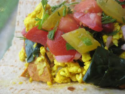tofu scramble with garden veggies