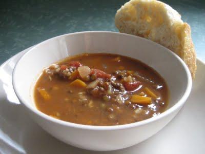lentil soup is for champions!