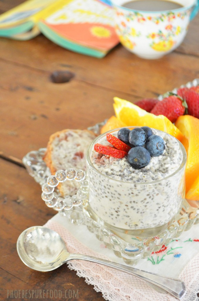 chia seed pudding, vegan