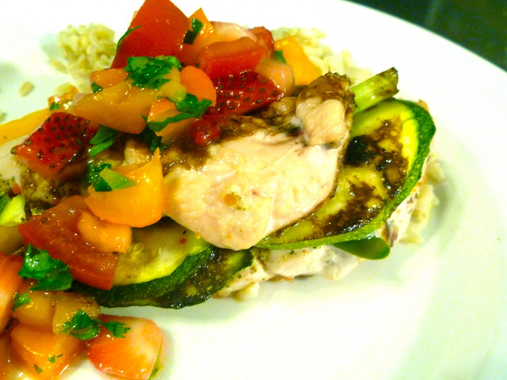 vegetable stuffed chicken breast