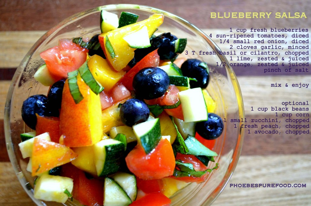 blueberry peach salsa