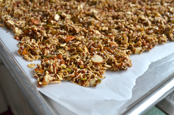 maple nut quinoa granola