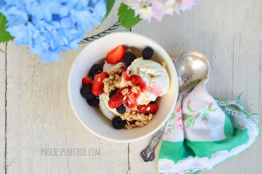 frozen strawberry cobbler phoebes pure food