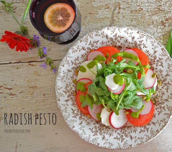 radish greens pesto