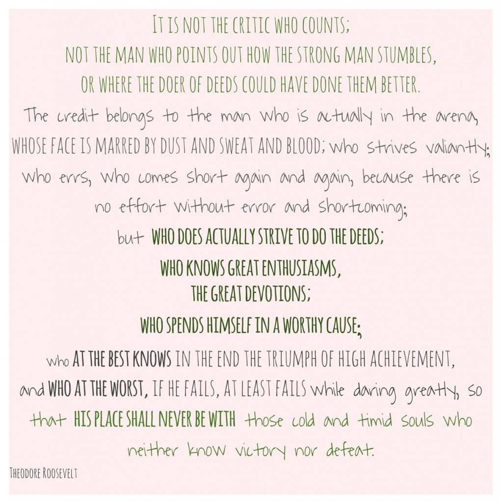 while daring greatly…