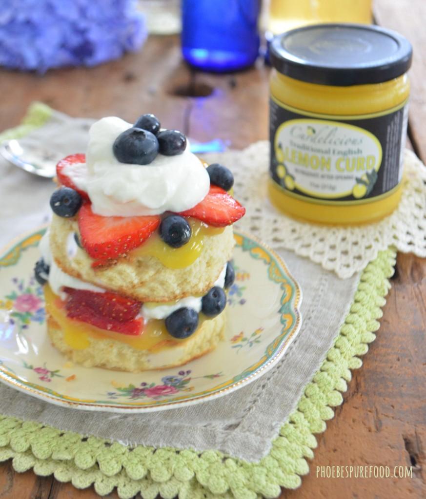 lemon curd & berry mini cakes