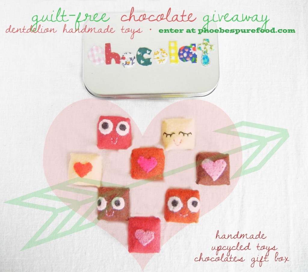 hand stitched chocolates giveaway