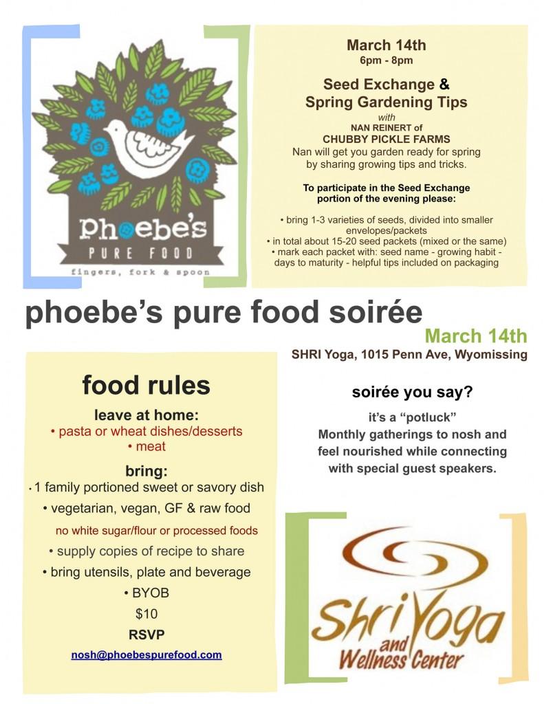 phoebes pure food soiree 4.14.13