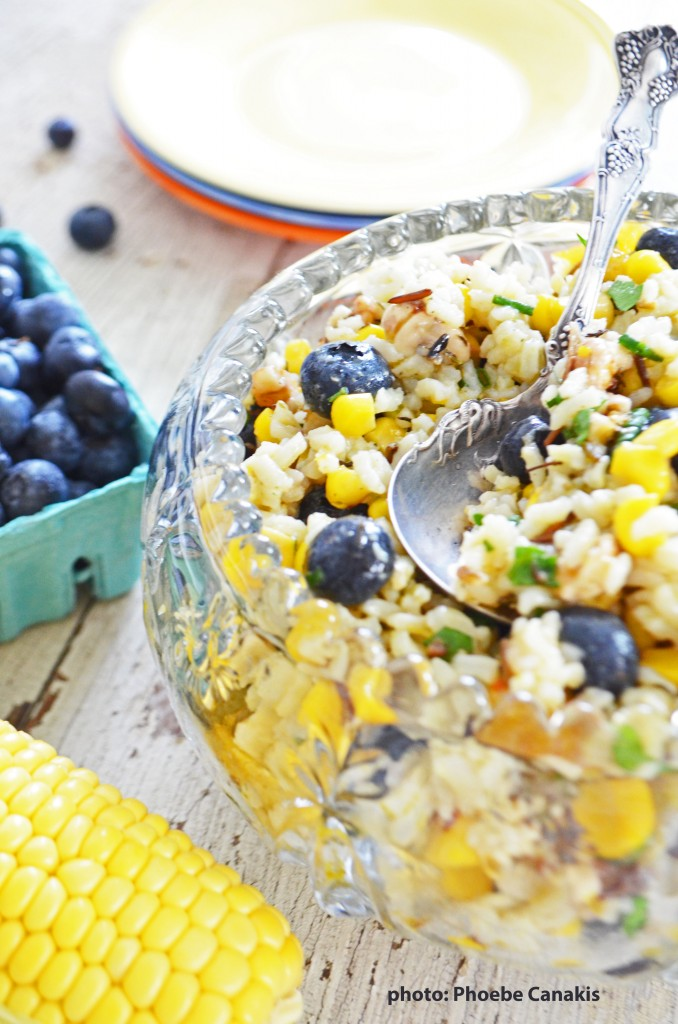 corn and blueberry salad {gf, vegan}