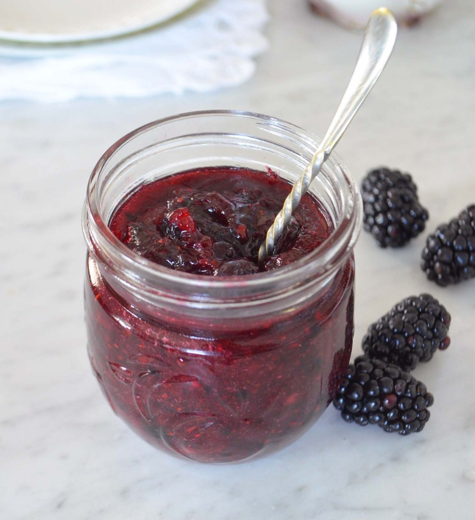 blackberry margarita freezer jam