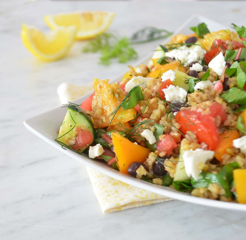 freekeh tomato salad 2 phoebes pure food