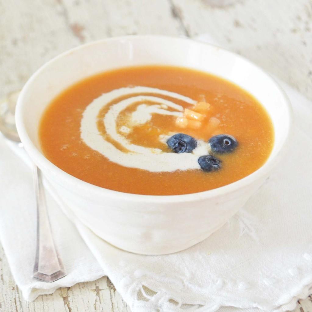 vegan chilled cantaloupe soup