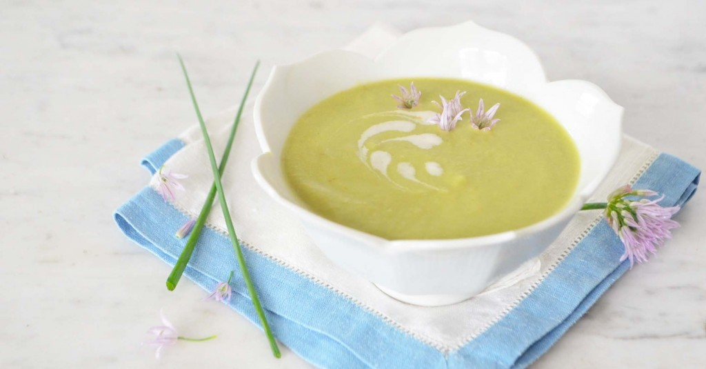 chilled pea soup phoebes pure food