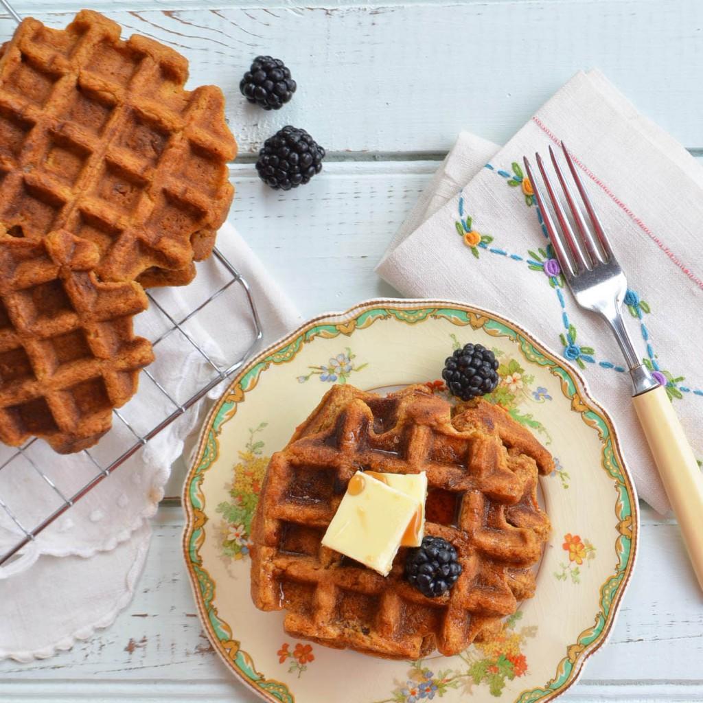 sweet potato waffles phoebes pure food