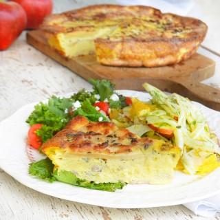 apple-fritatta-fennel-salad-phoebes-pure-food