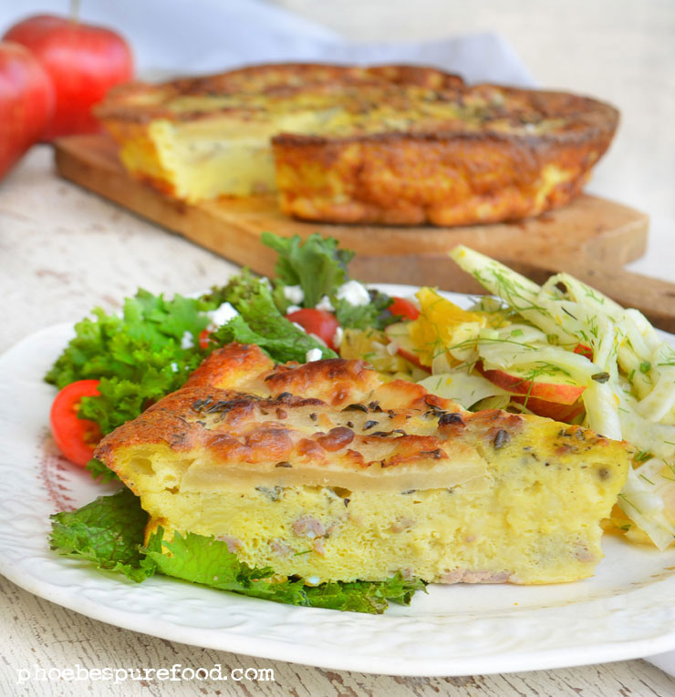 apple-fritatta-fennel-salad-phoebes-pure-food