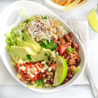 taco rice bowl phoebes pure food 2