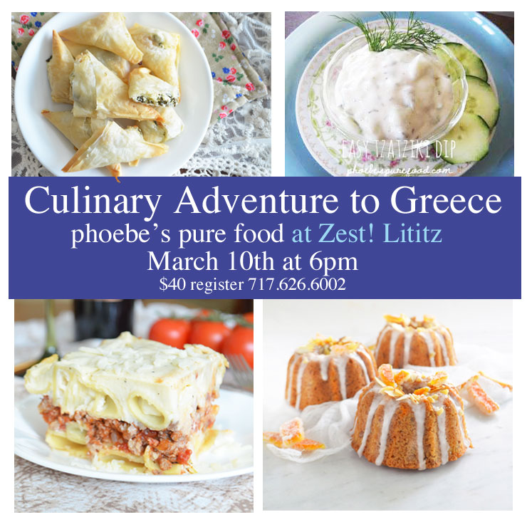 cooking class: greek eats