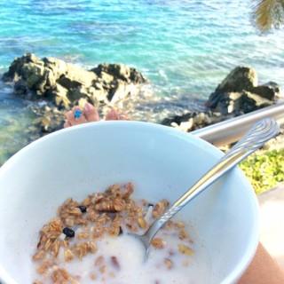 spiced maple nut granola vacation