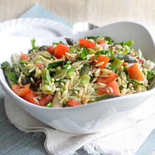 asparagus orzo salad phoebes pure food 2
