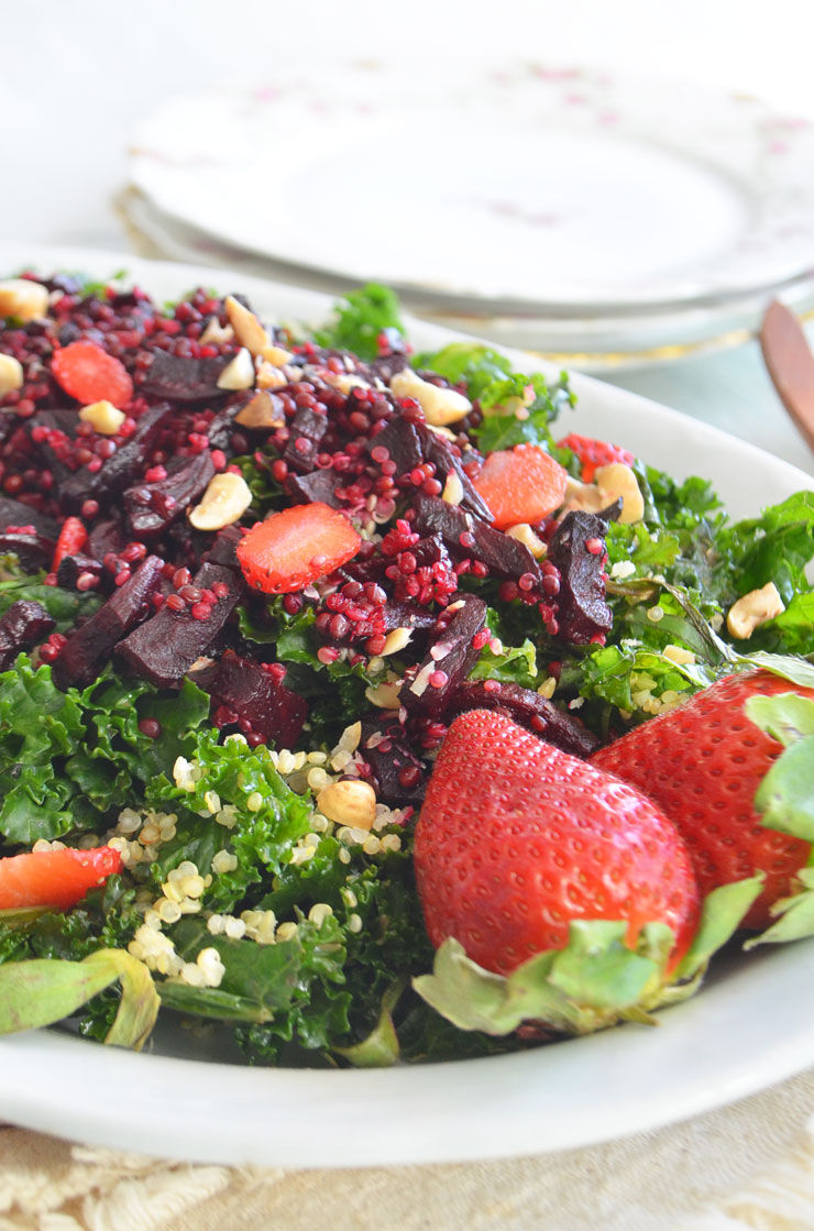 strawberry kale and beet salad phoebes pure food