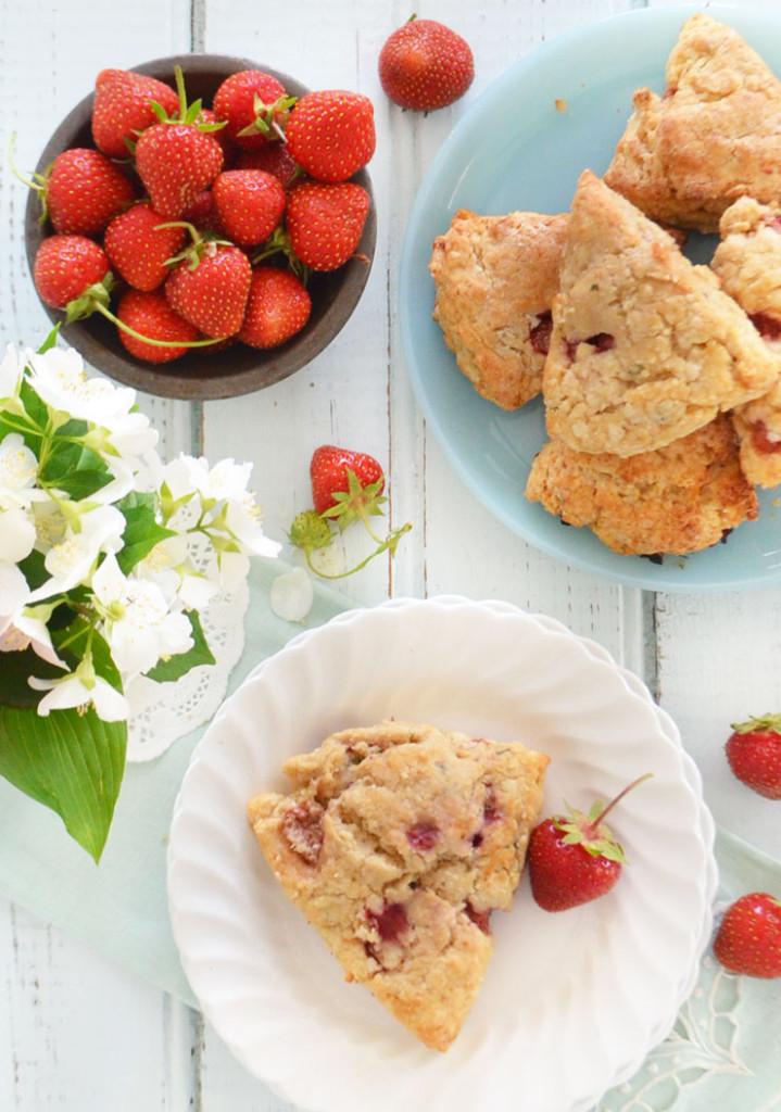 strawberry mint scones