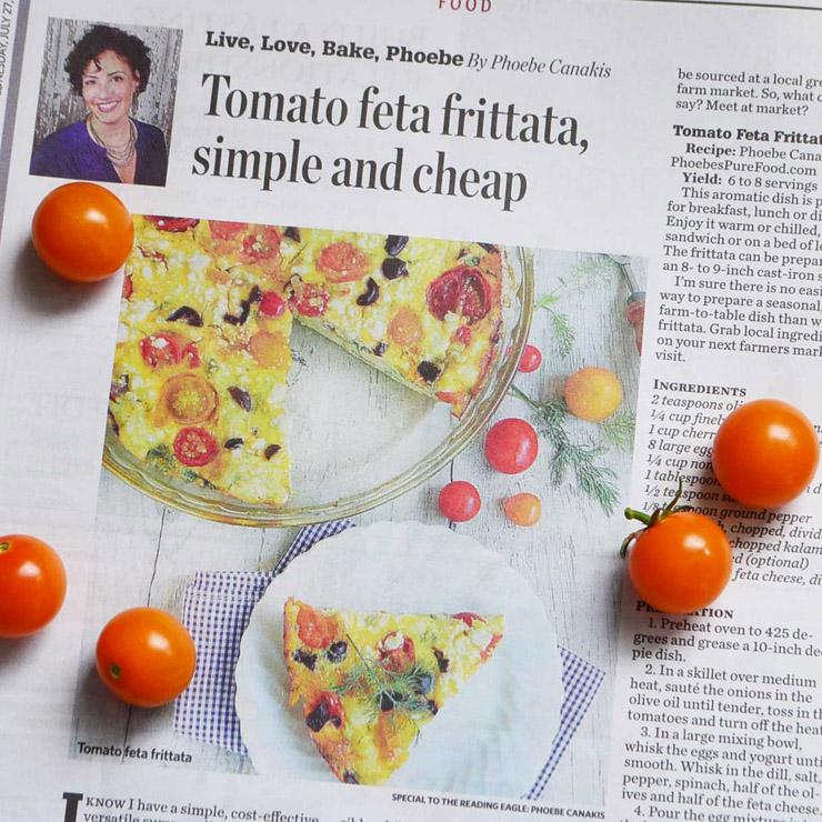 berks country tomato feta frittata