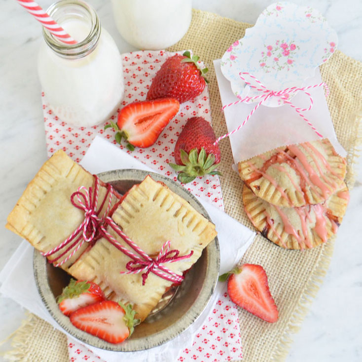 strawberry rhubarb mint hand pies