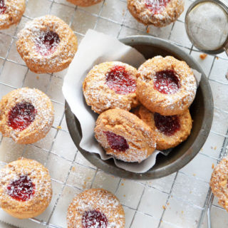 almond butter jelly cookies