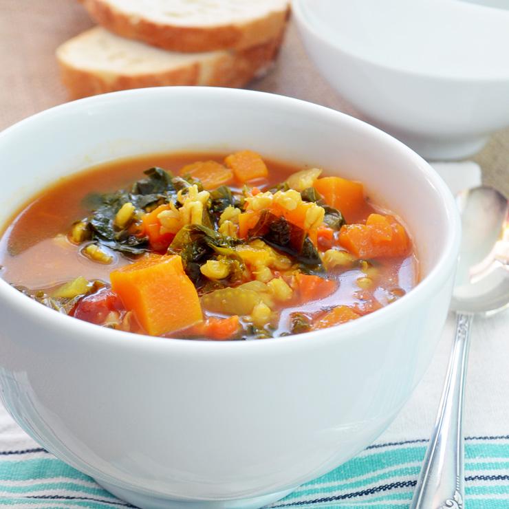 barley squash soup