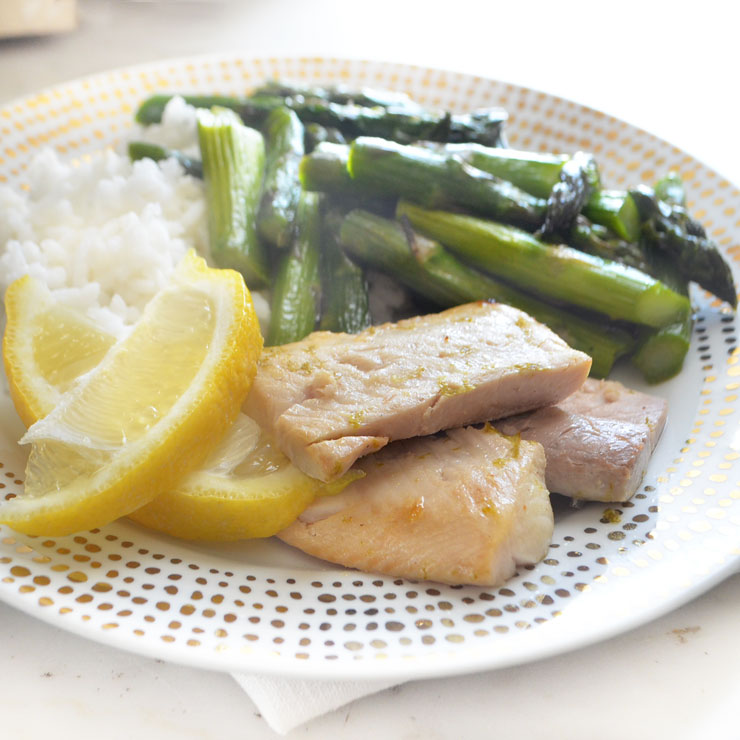 citrus broiled shad