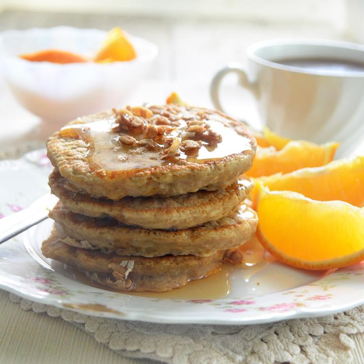 ginger oat pancakes